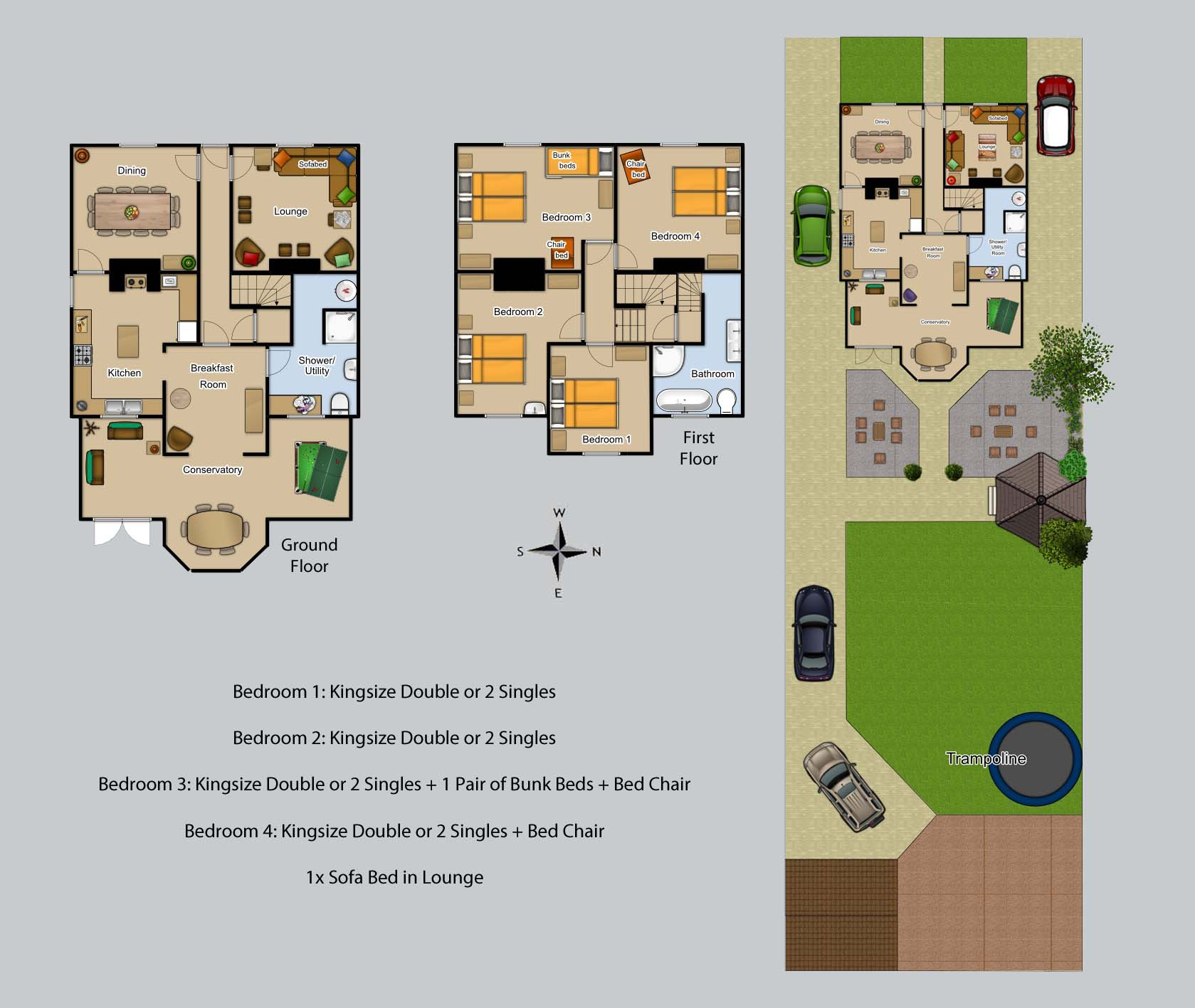 Floor plan for Cambrian House
