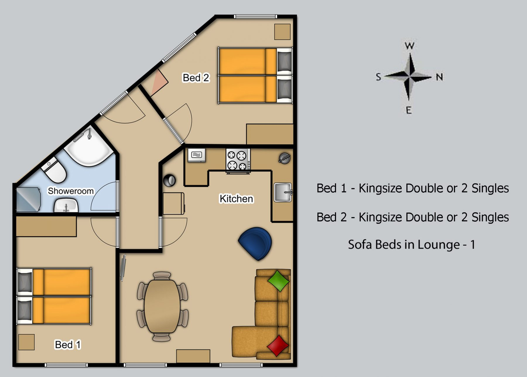Floor plan for Harbour View 2