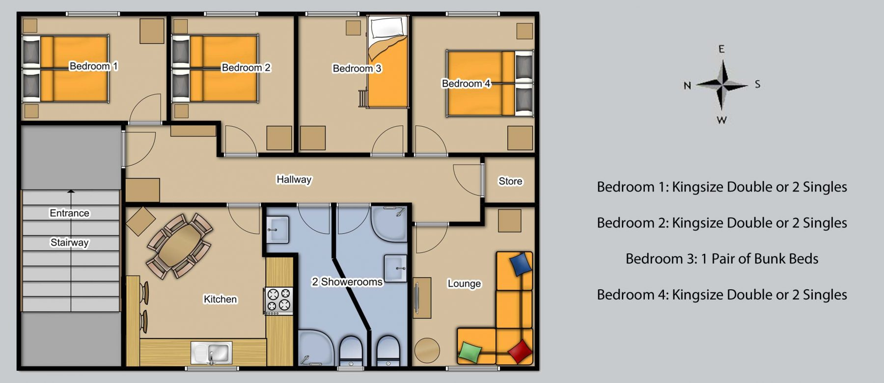Floor plan for Harbour View 4