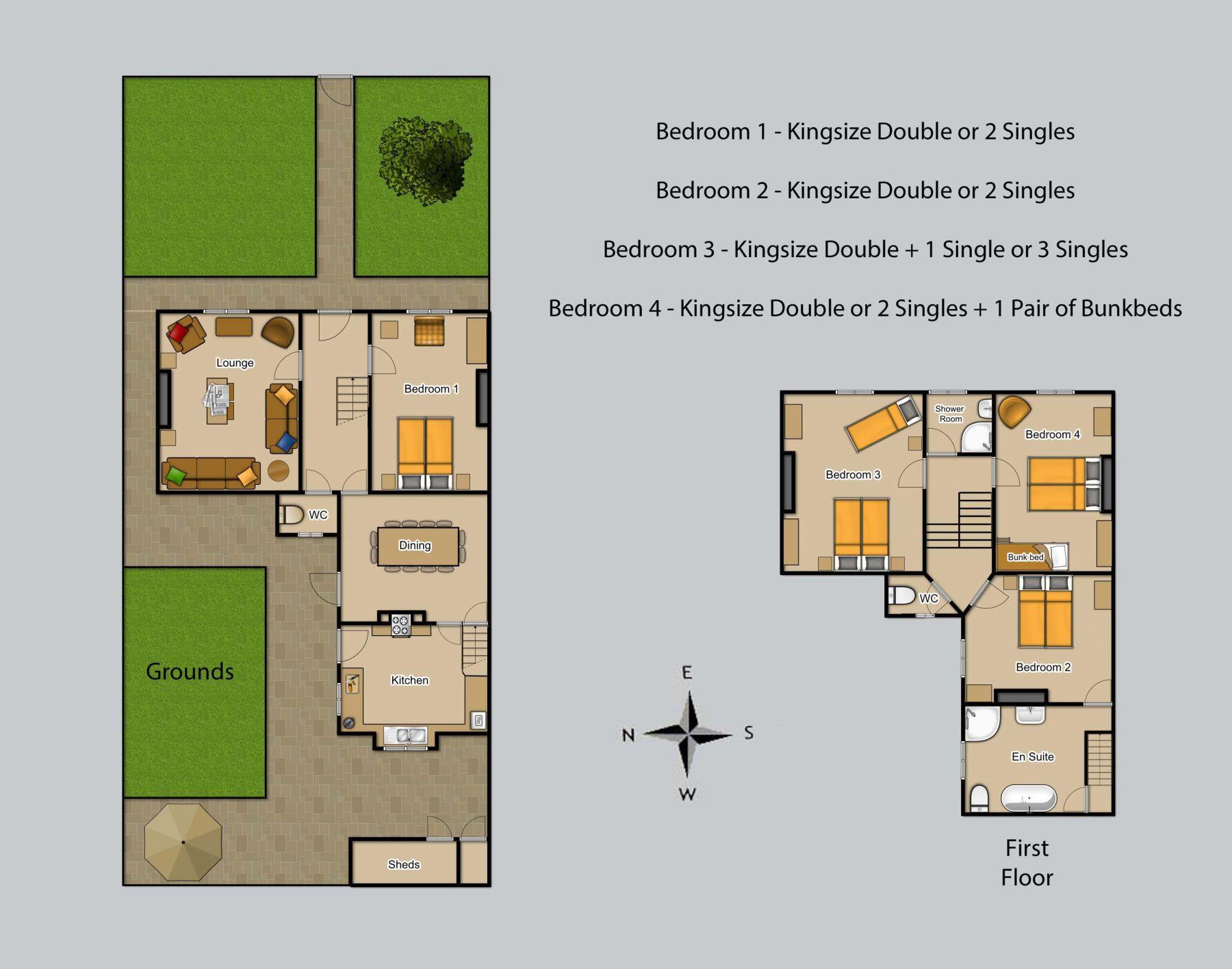 Floor plan for Peel House