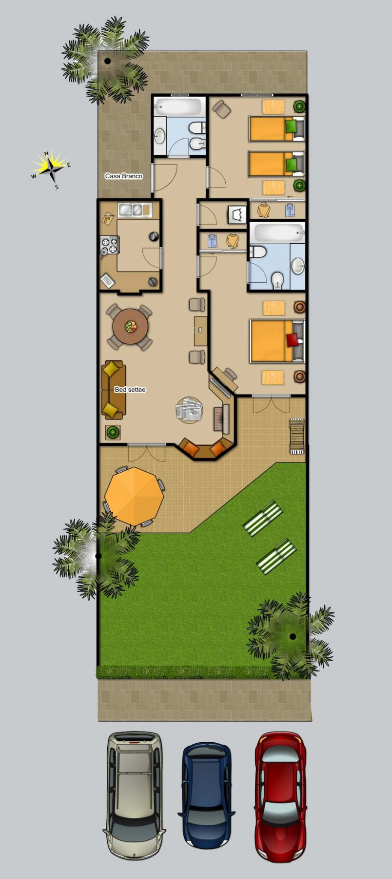 Floor plan for Casa Branco