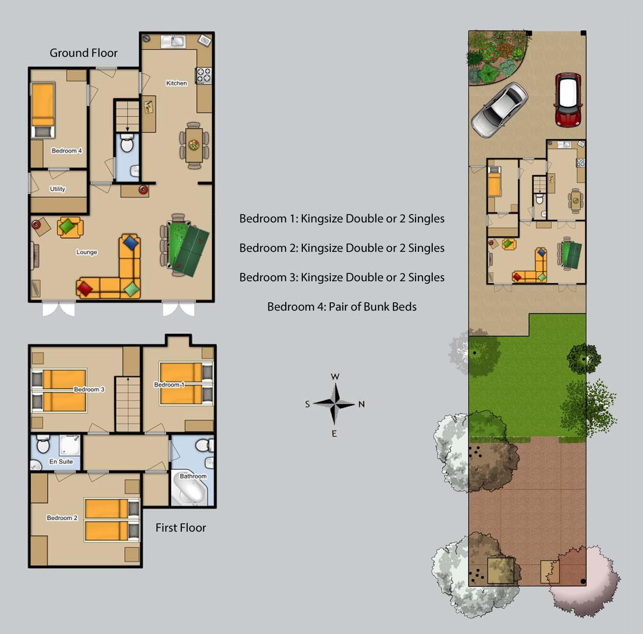 Floor plan for Grove House