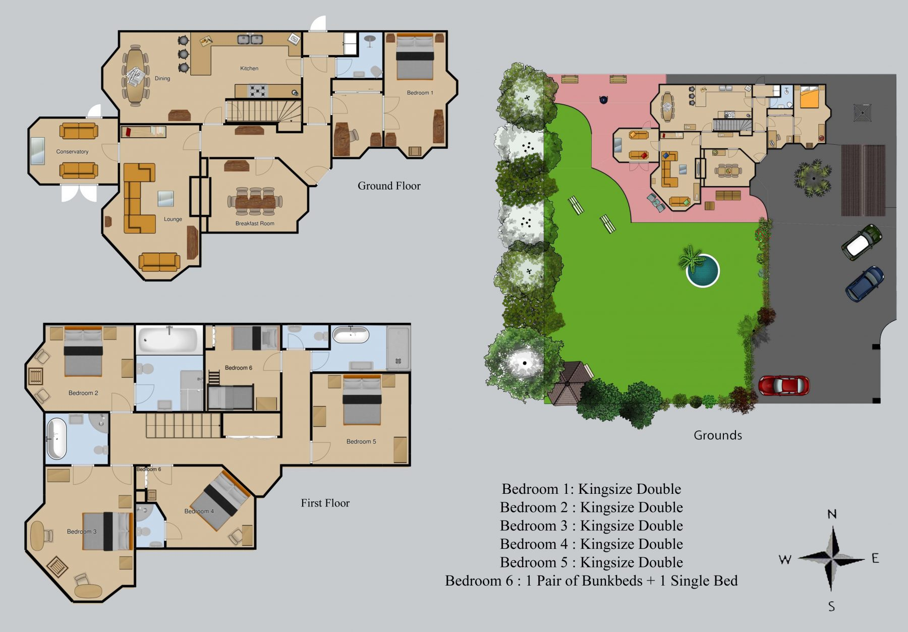 Floor plan for Windbrake House