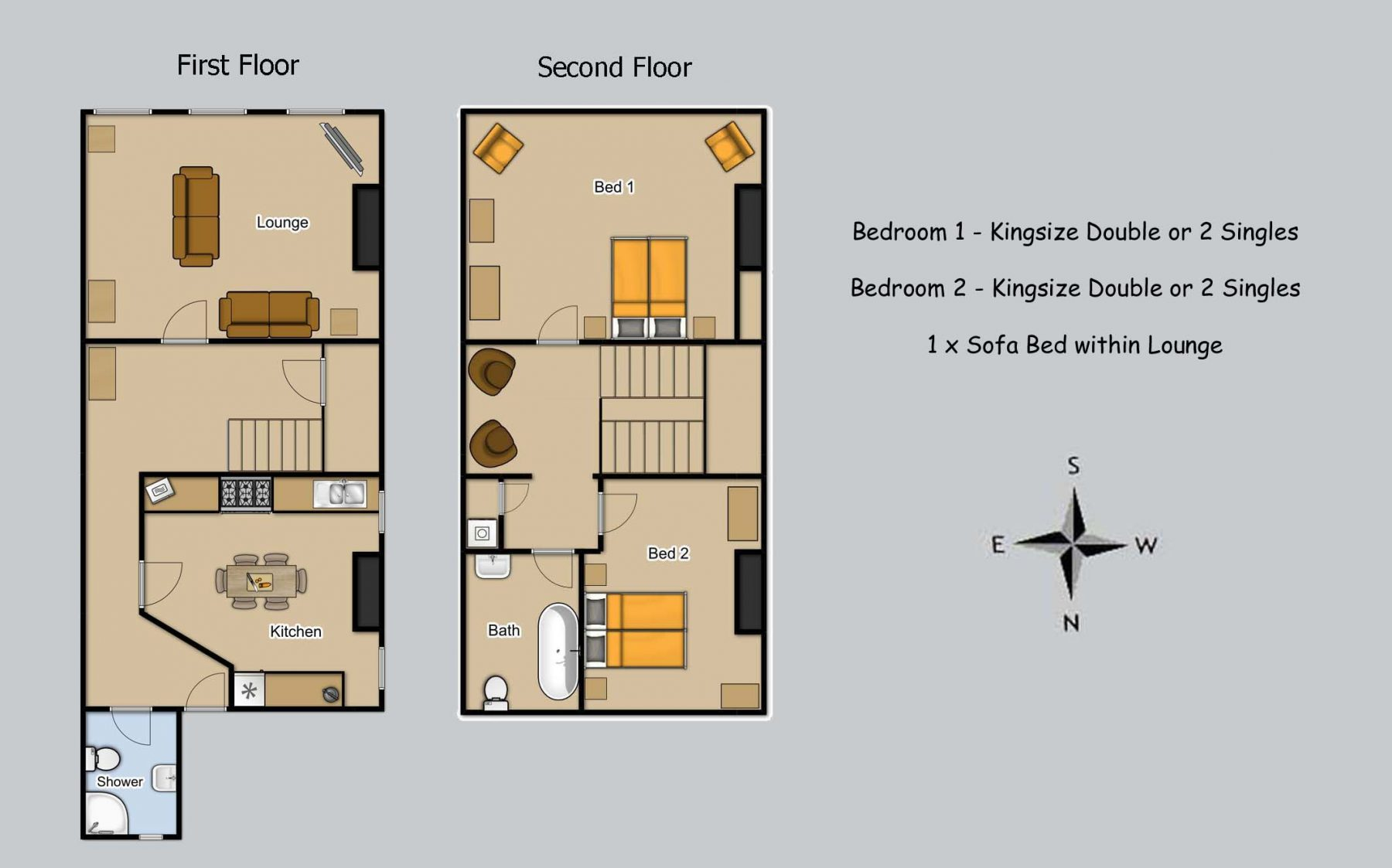 Floor plan for Georgian Apartment