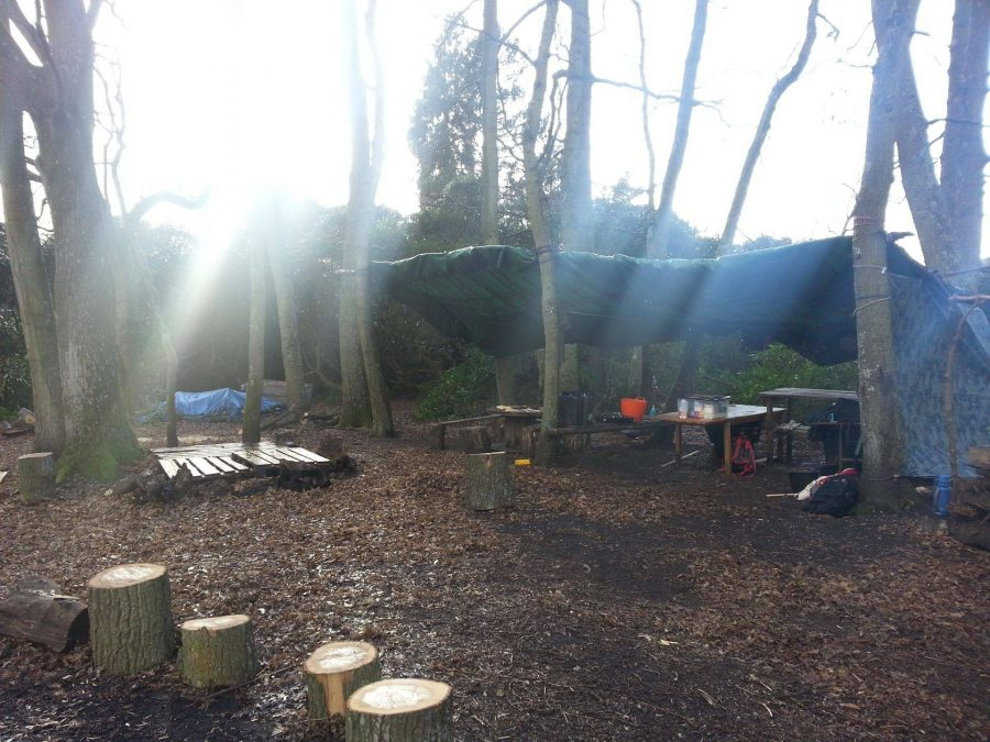 Campsite at Bushcraft Outdoor Academy