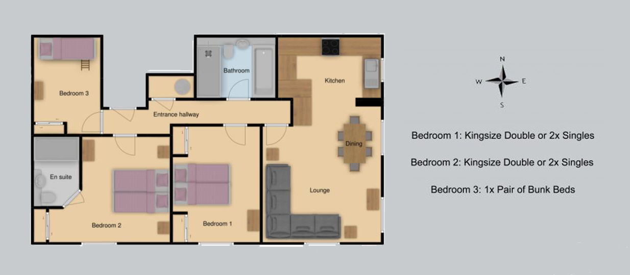 Floor plan for Twenty Three – B