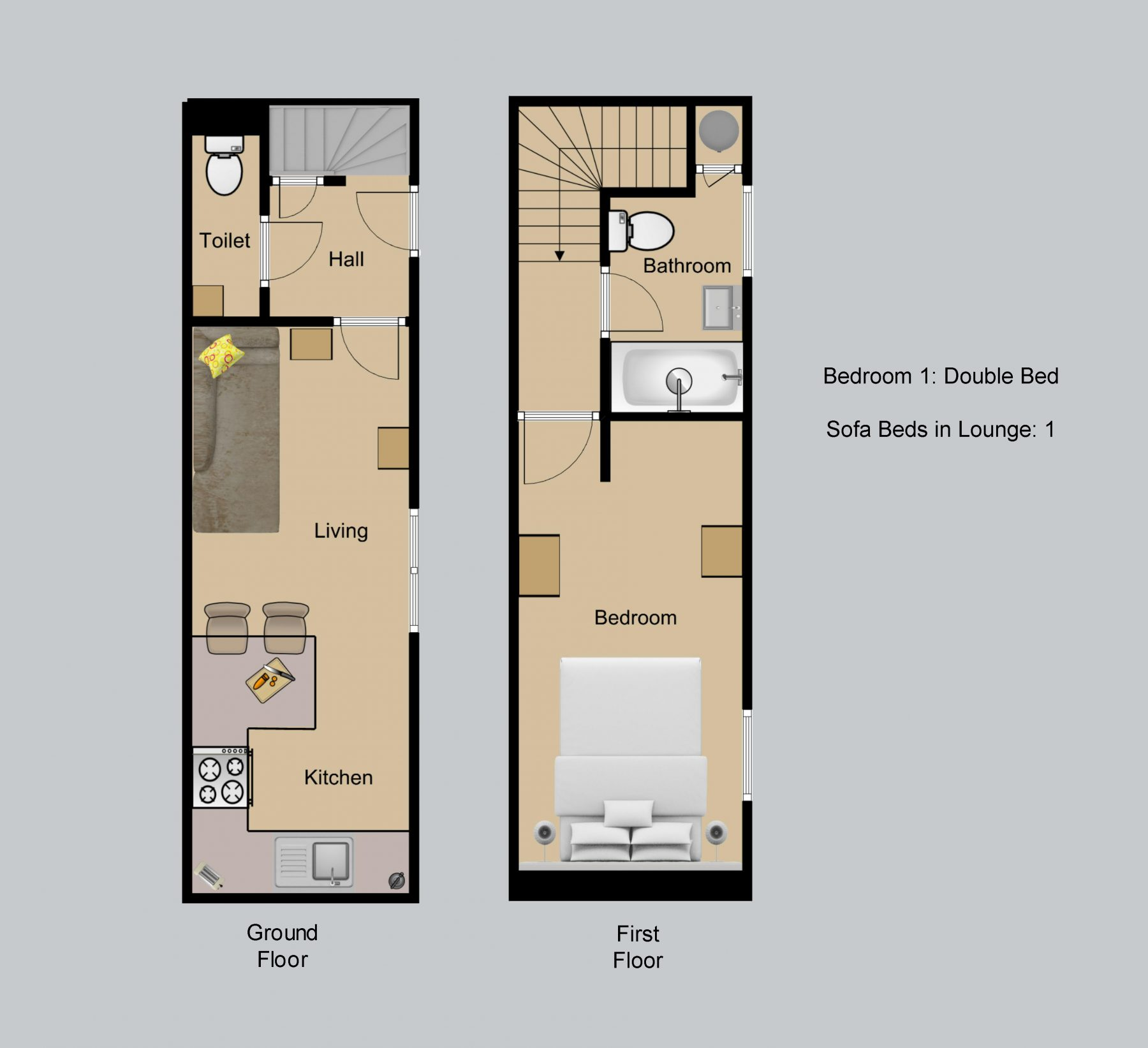 Floor plan for Whitsun Cottage
