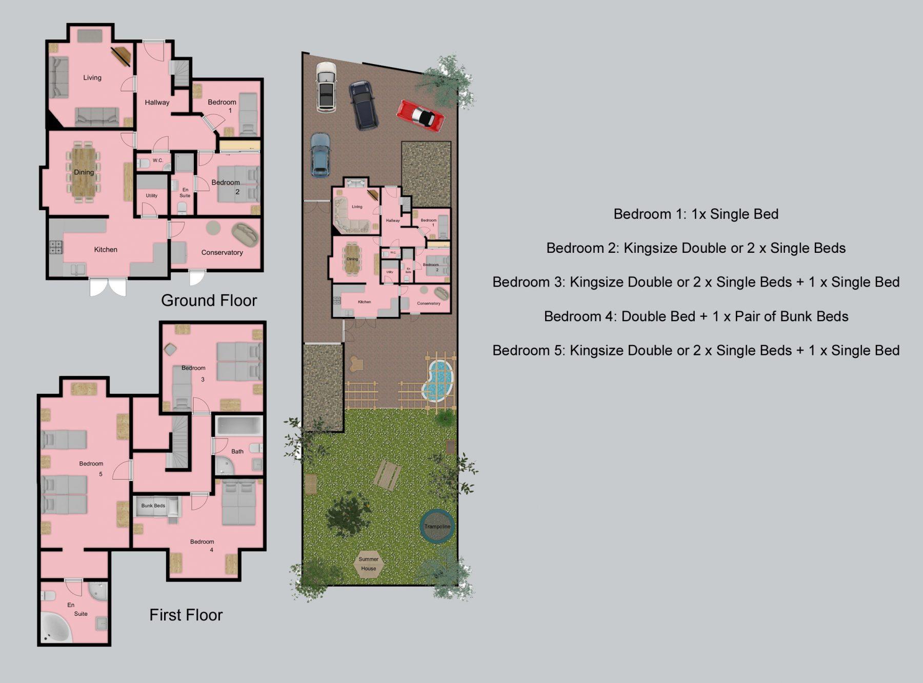 Floor plan for Grove Lodge