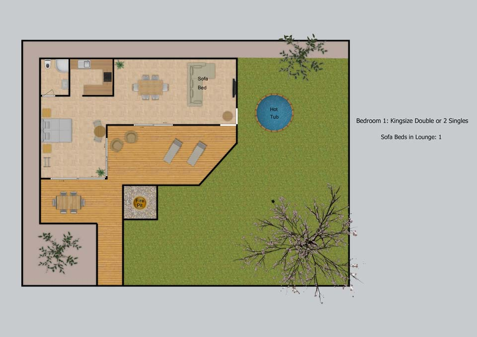Floor plan for The Cabin